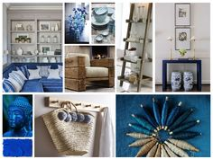 We've been reminiscing about the summer - our inspiration board is inspired by beach life and fresh tones of blue!