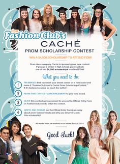 FIDM Fashion Club gave away two $4,500 scholarships to attend FIDM, sponsored by #Caché. #FIDMFashionClub