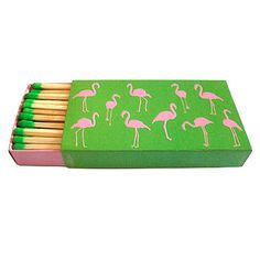 Bring a bright, preppy look to your tabletop with Design Darling's flamingo matches ($7). Lily Pulitzer wou...
