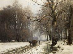 andersen-lundby, anders - Romantische verschneite Waldlanschaft | by Amber Tree
