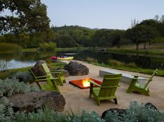 This new home in Sonoma, California, is hidden in a secluded property with a meadow, oak trees, and a pond.