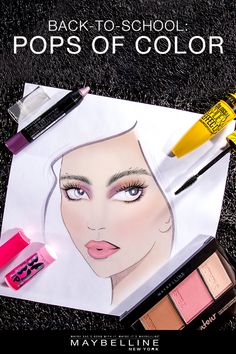 Copy: Give your back-to-school look a little life with pops of color from Maybelline. Accentuate your eyes, lips and face with subtle accents like Baby Lips Glow Balm and Color Tattoo Eye Crayon. For long, sculpted, dramatic lashes use Spider Mascara and get a fresh face with Master Contour Palette. Get the look with these Maybelline products today.