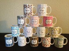 Personalized Mug / Coffee Mug / Gift / by dottwodotdesigns on Etsy, $18.00