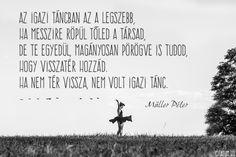 Müller Péter idézete a visszatérésről.