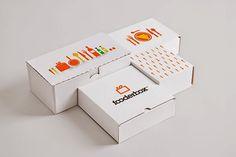 Embalaje de carton para alimentacion Fooderbox