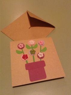 Card with buttons by Lynn A