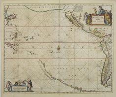 JANSSONIUS, J. -  Mar del Zur, Hispanis Mare Pacificum.