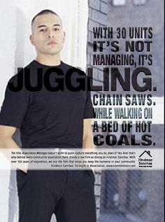 Hindman Juggling ad- Fishman Marketing  print advertisement