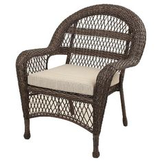 sheridan wicker stacking patio club chair brown threshold target