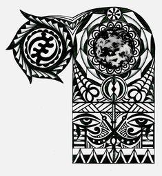 Adinkra African warrior tribal half sleeve tattoo