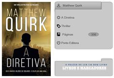 Livros e marcadores: A Diretiva de Matthew Quirk