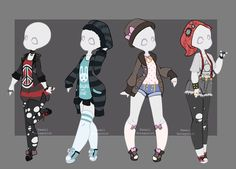 gacha outfits 1 by kawaii-antagonist