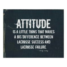 #Lacrosse Attitude in Denim Print > Thanks ... sold today ... enjoy your new poster