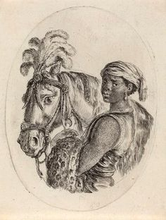 Stefano Della Bella  Black Groom with an Arabian Horse  Italy (1649/1650)  Etching on laid paper, 10.8 × 8.3 cm.  National Gallery of Art, Washington
