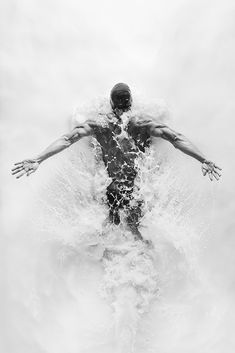 """ESPN / Carlos Serrao shoots """"The Opaque"""" for ESPN featuring Olympic swimmer Nathan Adrian / bw art photography Sport Photography, Creative Photography, Amazing Photography, Portrait Photography, Movement Photography, Swimming Photography, Fashion Photography, Minimal Photography, Professional Photography"""
