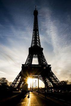 sunrise, Eiffel Tower