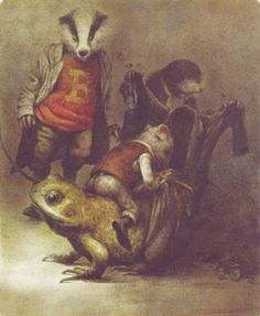 Robert Ingpen has illustrated some great children's classics including Wind in the Willows, Treasure Island, Alice in Wonderland, The Jungle Book, and Tom Sawyer. Art And Illustration, Book Illustrations, Troll, Frog Art, Roman, Children's Picture Books, Alice In Wonderland, Illustrators, Fairy Tales