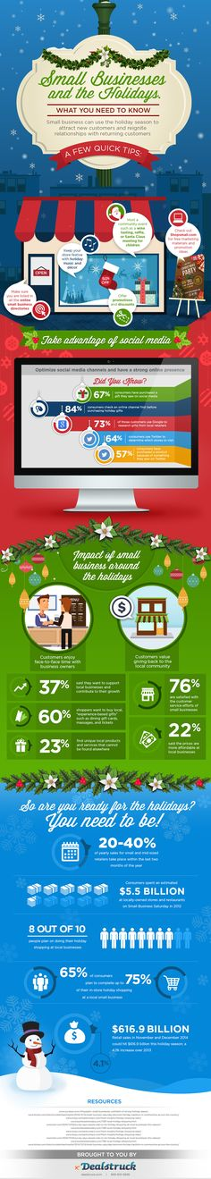 Small Business Tips for the Holidays Infographic