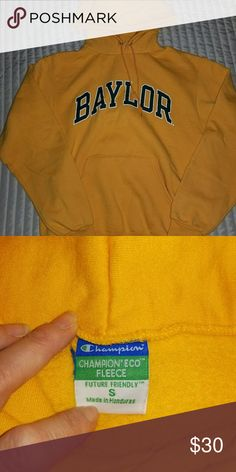 Champion Eco-fleece Baylor Hoodie Sweatshirt Champion Eco-fleece Baylor Hoodie Sweatshirt in like new condition. Only worn once. Very comfortable! Smoke-free home. Champion Tops Sweatshirts & Hoodies