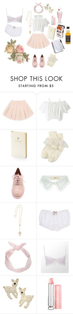 Daddy, the girls are taking me out after church. by ashleeritson on Polyvore featuring Kiki de Montparnasse, Elle Macpherson Intimates, Marc by Marc Jacobs, Vanessa Bruno Athé, Heather Gardner, Christian Dior, Nordstrom and Aspinal of London