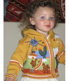 Kid's Wool & Acrylic Arpillera Hooded Sweater from the Crystal Lake Alpaca Boutique! #alpaca #kids #sweater