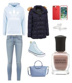 """""""Sans titre #3738"""" by merveille67120 ❤ liked on Polyvore featuring adidas Originals, Frame, Converse, Andrew Marc, Longchamp, Alex and Ani and Deborah Lippmann"""