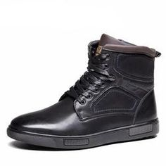 Leather Russian Style Boots For Men