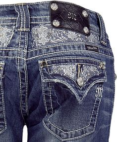 MissMe Jeans from Buckle have these...super cute