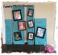 "I added ""Repurposed Wood Shutters Family Photo Display"" to an #inlinkz linkup!http://mixedkreations.com/blog/2015/02/repurposed-wood-shutters-family-photo-display/"