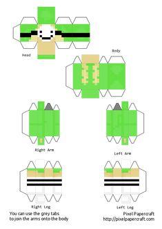 Minecraft Templates, Minecraft Crafts, Cool Paper Crafts, Paper Crafts Origami, Papercraft Minecraft Skin, Painting Minecraft, Mc Skins, Minecraft Drawings, Minecraft Characters