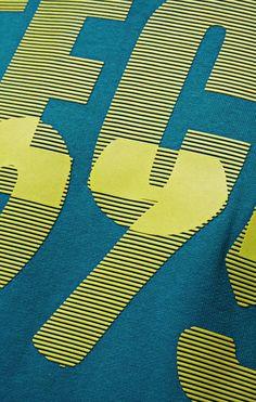 RELIEF SCREEN Graphic Patterns, Graphic Prints, Print Patterns, Graphic Tees, Techniques Textiles, Embroidery Techniques, Hang Ten, Lyon, Sweat Shirt