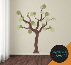 Whimsical Bubble Tree Vinyl Wall Decal  TRE002 by PMVinyls on Etsy