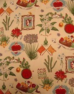 Frida Kahlo's Garden- Alexander Henry Scenes 1 Yard Fabric. $10.50, via Etsy.