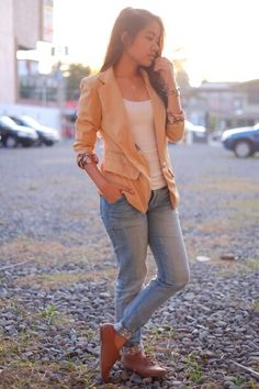 Casual blazer and jeans