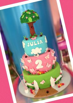 Árvore  Animais Bolo Cake  Animals  Pink