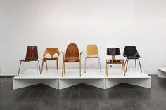 GA-Stapelstuhl, #Bellman; Stacking side chair C 2, #Jacobs; Hillestak Chair,#Day; Stapelbar Karmstolar, #Ekström; Stapelstuhl Modell 600, #Coray; Tonneau, #Guariche (Photography: Ulrich Schwarz)