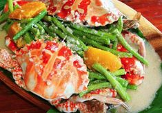 Filipino Foods And Recipes - Pinoy foods at its finest.: Ginataang Alimasag (Crabs In Coconut Milk) Filipino Dishes, Filipino Desserts, Filipino Recipes, Asian Recipes, Ethnic Recipes, Filipino Food, Cranberry Chutney, Seafood Dishes, Seafood Recipes