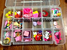 I have searched high and low for ideas on how to organize tiny Barbie stuff and surprisingly there is not a whole lot out there. I did see one pin on Pinterest to organize Barbie shoes in the small fishing lure organizer which I keep meaning to pick up from Wal-mart but I also needed something …