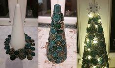 Készíts kávékapszuából karácsonyfát Bottle, Diy, Home Decor, Alternative, Do It Yourself, Homemade Home Decor, Bricolage, Flask, Interior Design