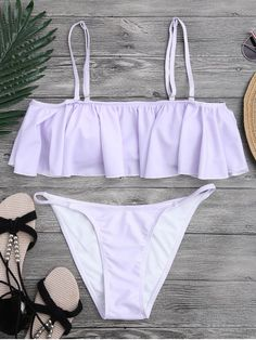 Find the latest and trendy styles of purple bikini - light purple bikini top and bottoms at ZAFUL. We are pleased you with the latest fashion trends purple bikini. Monokini Swimsuits, Cute Swimsuits, Cute Bikinis, Swimwear, Frill Bikini, Bikini Tops, Purple Swimsuit, Summer Bathing Suits, Zaful Bikinis