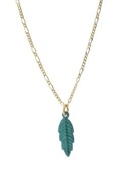 Mini Patina Feather Necklace by Jami Rodriguez on @HauteLook