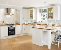 The Greenwich Shaker White Kitchen Has Simple Thick Matt Doors Which Are Available In Cream Grey And Light Oak