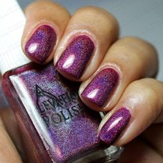Elevation Polish Custom - Red, Red Wine  http://sweetsouthernhaze.blogspot.com/2013/07/elevation-polish-customs-penny-holo.html