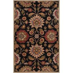 Artistic Weavers Amanda Black Wool 3 ft. 6 in. x 5 ft. 6 in. Area Rug - AMN2002-3656 at The Home Depot