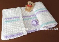 Free baby crochet pattern pram cover usa