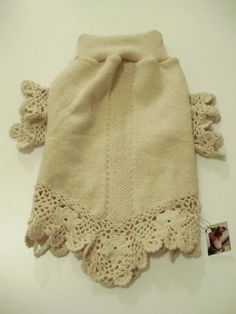 Crocheted Wool Small Dog Sweater