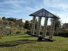 I temp(l)i che cambiano -Terzo Paradiso by Michelangelo Pistoletto, 2010_ Parco Internazionale della scultura MARCA_ Catanzaro (IT)