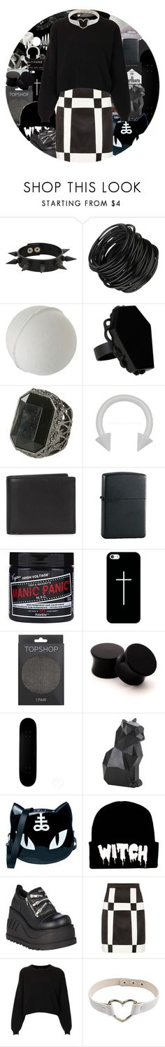 """black//white"" by chemicalfallout249 ❤ liked on Polyvore featuring CASSETTE, Forever 21, Hot Topic, Wet Seal, Coach, Zippo, Casetify, Topshop, Killstar and Demonia"