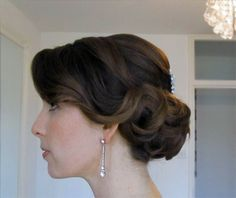 Beautiful Brides | Gallery Vintage bridal hairstyle www.beautiful-brides.co.uk