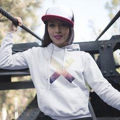 X Hoodie - Women – Raj Apparel Fashion Art, Riding Helmets, Brand New, Hoodies, Stylish, Model, Clothes, White Hoodie, Collection